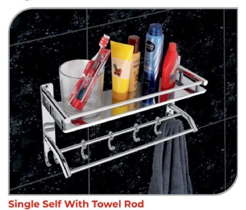 Single Self With Towel Rod Ss (202)