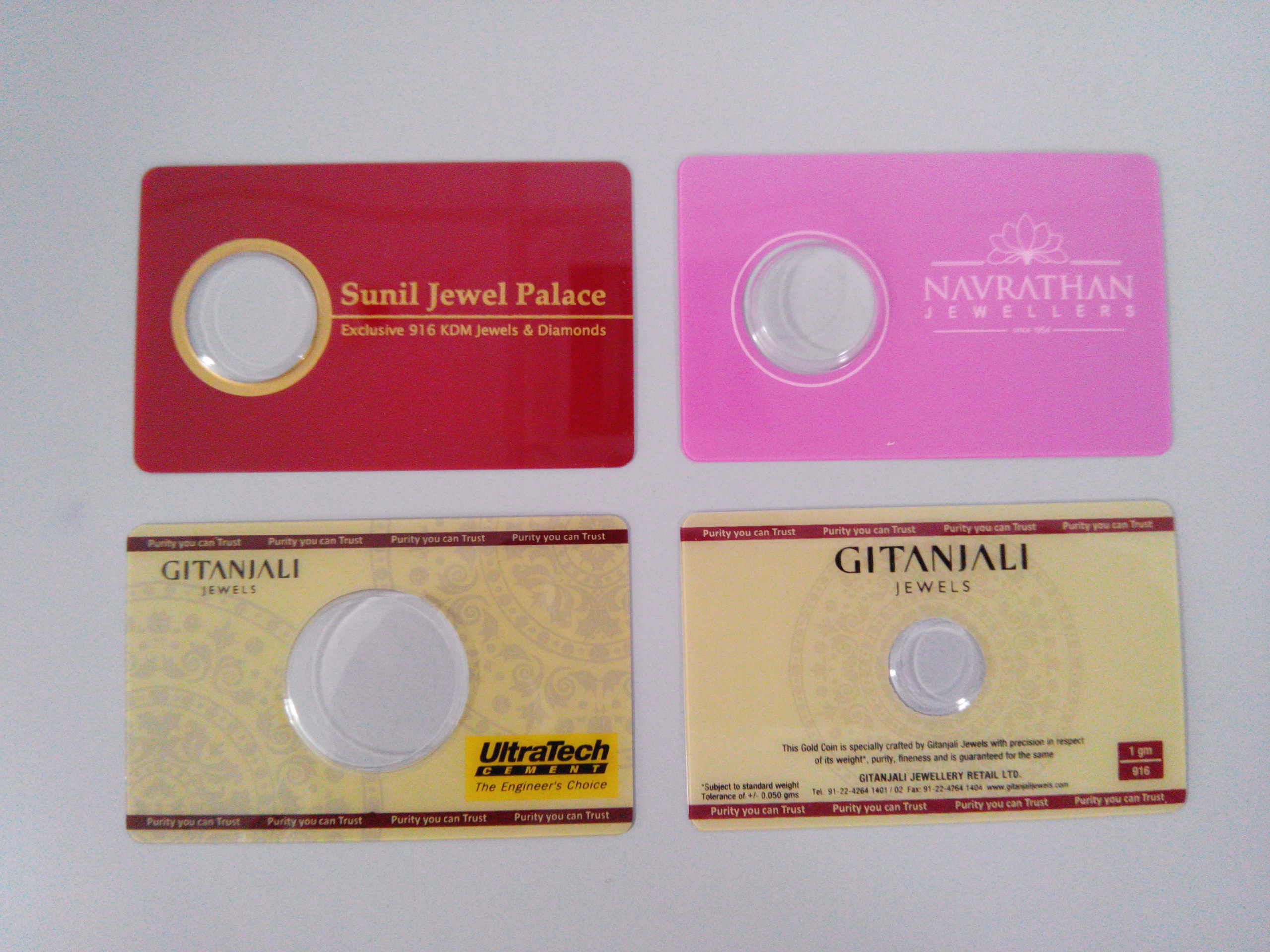 Gold Coin Cards