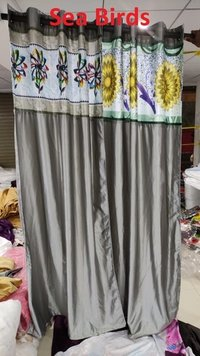 Long Crush With Digital Patch Curtains