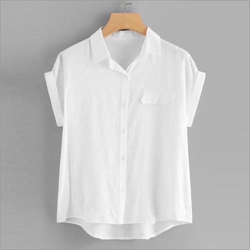 Ladies White Sleevless Top