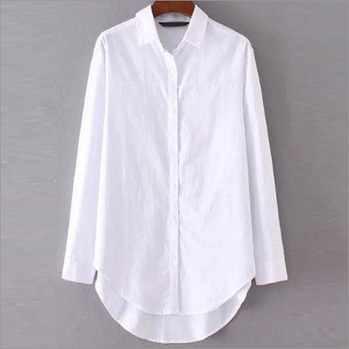 Ladies Full Sleeve White Shirt