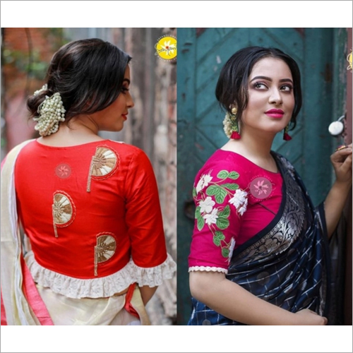 Ladies Fancy Embroided PrilBlouse