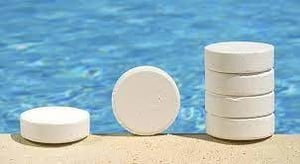 Chlorine Klorin 90% Tablets For Swimming Pool / From Japan