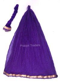 Violet Color With Lace Chiffon Dupatta