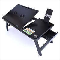 Popular Wooden Laptop Table/Study Table -with Mobile & Tablet Dock(Amazing Black Colour)