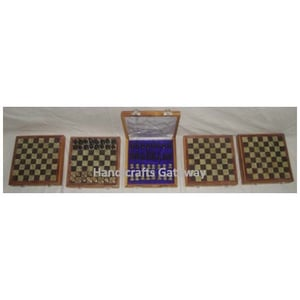 Exclusive Natural Wood Sports Chess Set, Handmade Chees Board