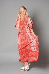 Kaftan Dress, Embellished Viscose Pattern Beach/casual Wear