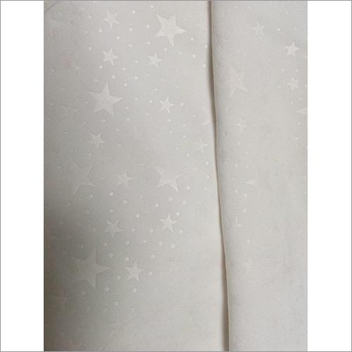 Micro Peach Star Embossed Fabric