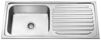 45X20X10 SUPER SQUARE SINGLE Bowl with Drain Board Sink