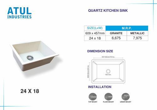 24x18 Quartz Kitchen Sink