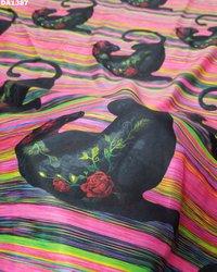 Digital Prints Mini Micro Silk Fabric