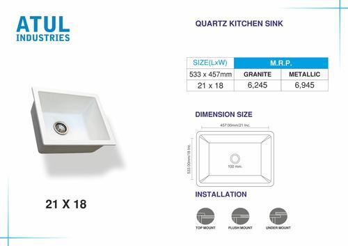 21x18 Quartz Kitchen Sink