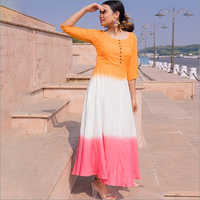 Ladies Rayon Tie Dai One Piece Gown