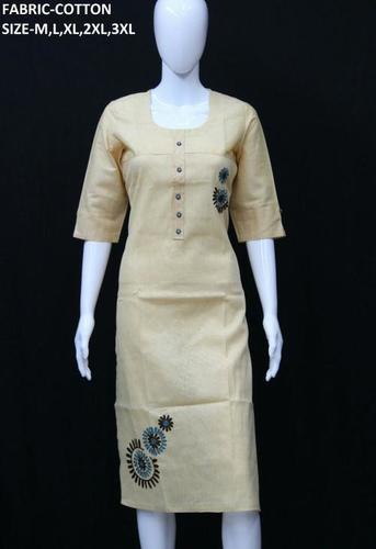 Ladies Cotton Long Kurtis