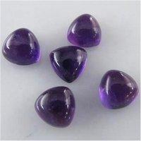 4mm African Amethyst Trillion Cabochon Loose Gemstones