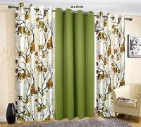 Long Crush Plain Curtains