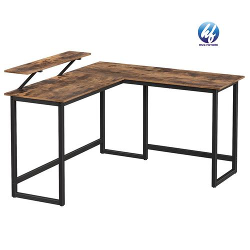 Best Factory L Shaped Desk Computer Desks 59 Inch Game Office Table Modern Metal And Wood Gaming Desk