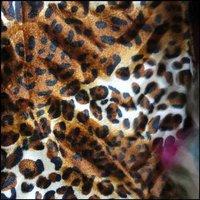 Velvet tiger print