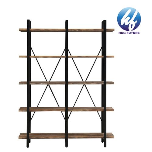 Standing Storage Leaning Ladder Shelf 4-Tier Bookshelf