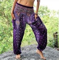 Thai Elastic Waist Harem Yoga pants