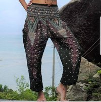 Flower Printed Harem Yoga Pants