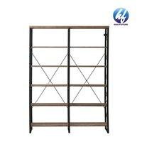 Stable Steel Frame Bookshelf Standing Ladder Shelf 5-tier Bookcase