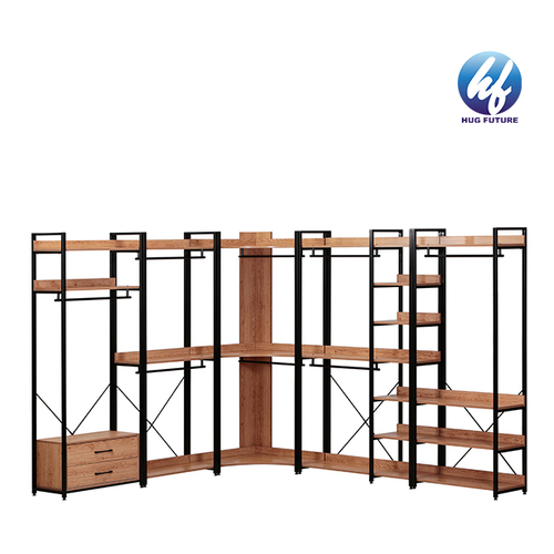 Heavy Duty Closet Storage With 6 Shelves And Hanging Bar