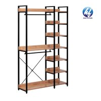 2021 New Design Standing Closet With Shelving Unit With Clothes Rail For Bedroom