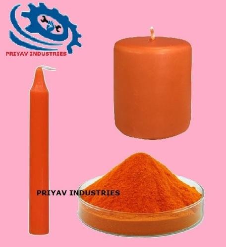 Orange Wax Candle Color