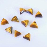 9mm Tiger Eye Trillion Cabochon Loose Gemstones