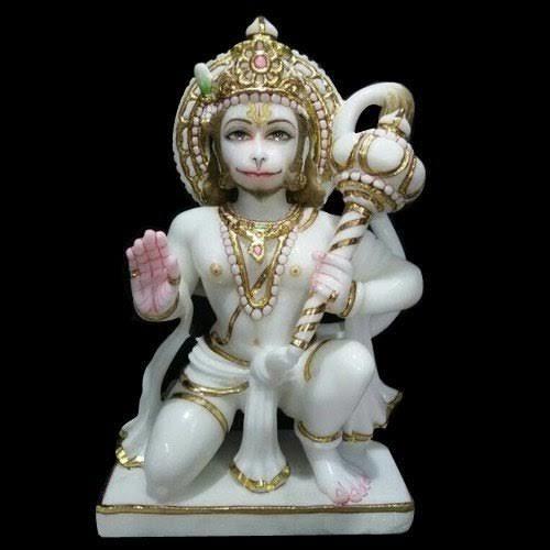 White Marble Das Hanuman Statue