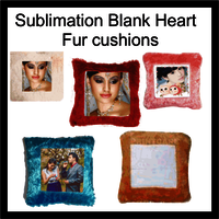 Sublimation blank square fur cushions