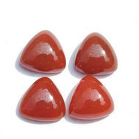 10mm Red Onyx Trillion Cabochon Loose Gemstones