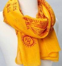 Indian Om Mantra Print Scarves