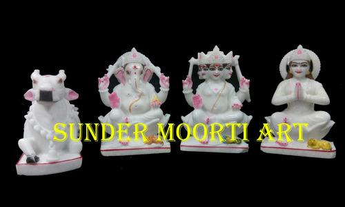 Marble Shiva Family