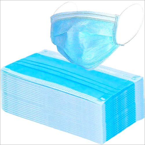 Disposable 3 Ply Blue Face Mask