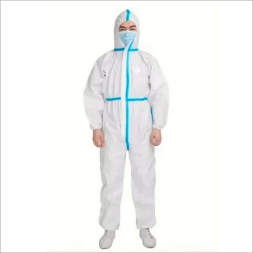 Protective Coveralls Suit with Hood Reusable Washable Safety Protective Coverall Gown