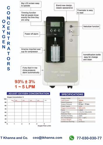 5 Litre - Heavy Duty - Oxygen Concentrators