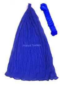 Blue Cotton Plain Dupatta