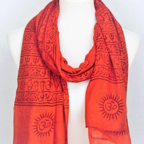 Ramnami Unisex Om Mantra Printed Super Fine Rayon Scarves