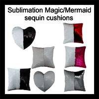 Sublimation Magic mermaid sequin cushoin