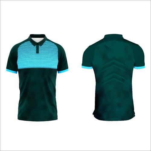 Half Sleeve Half Collar Sports T Shirts