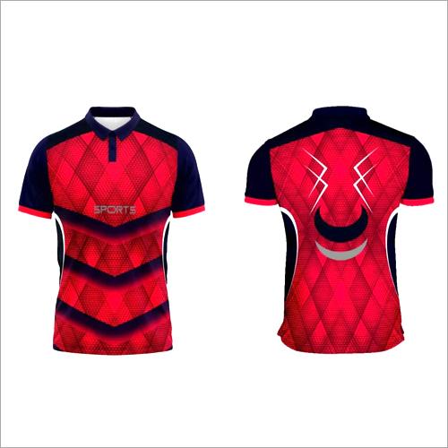 Half Sleeve Sports Collar T Shirt
