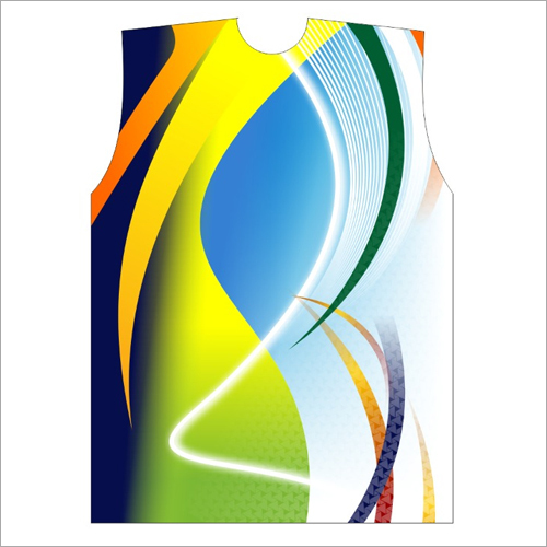 Multi Color Sleeveless Sports T Shirt