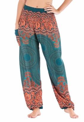 Women's Boho Pants High Waist Yoga Harem Pants