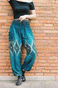 printed design elastic Boho Indian yoga Harem Pants