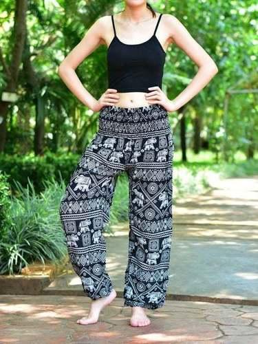 Women's Boho Elephant print Harem Yoga Pants