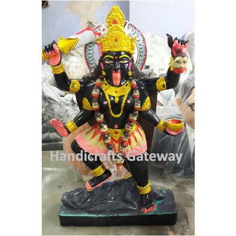 Handmade Marble Kali Mata Statue For Home Temple