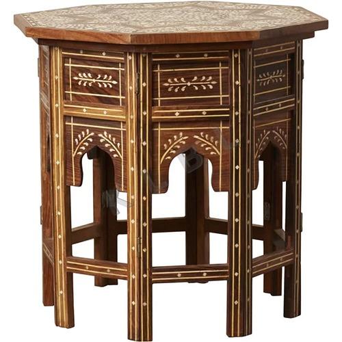 Wooden Bone Inlay Table