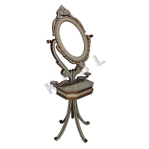 Wooden Extra Fine Work Inlay Dressing Mirror